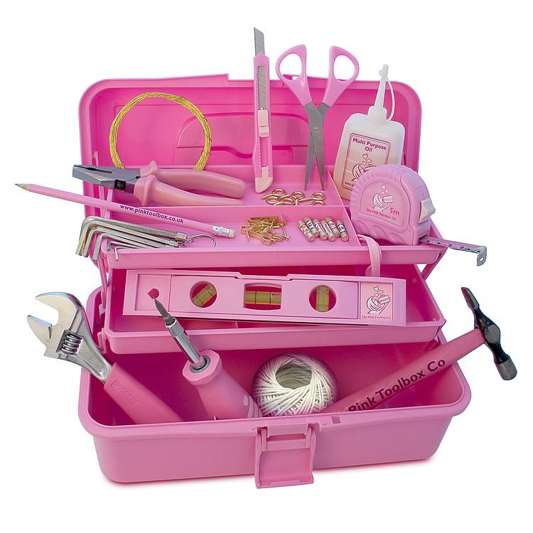 Caja herramientas rosa