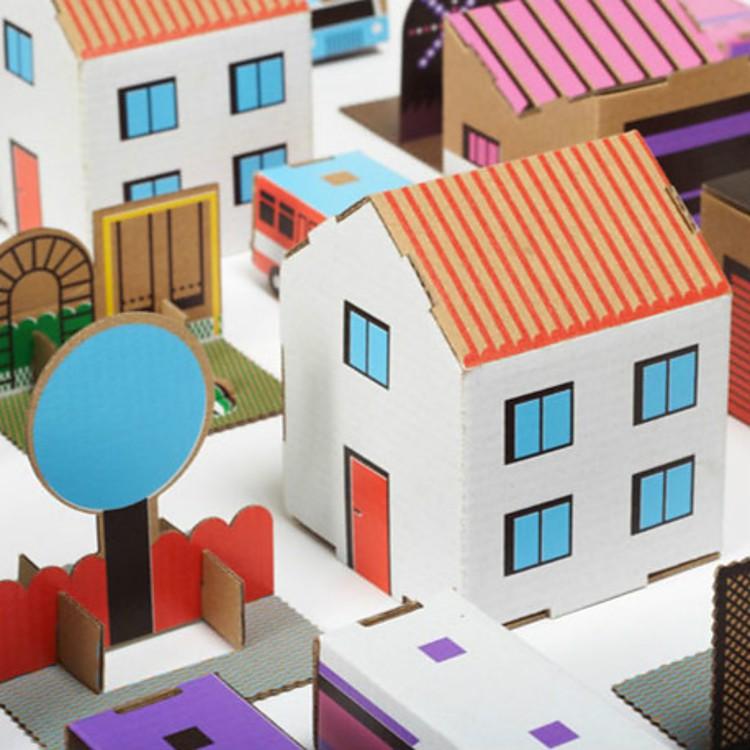 Ciudad de papel recortable garage and cars for Construye tu casa en 3d
