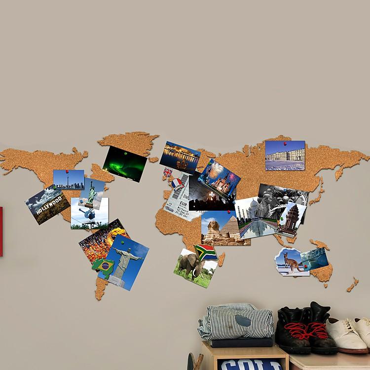 Mapamundi de corcho for Mapa del mundo decoracion