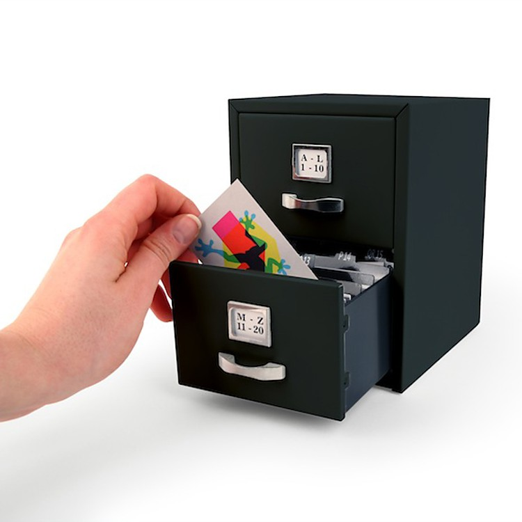 Mini archivador de tarjetas for Oficina qualitas auto madrid