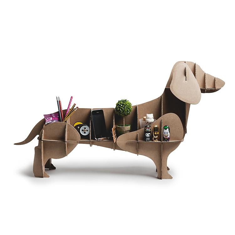 Perro de cart n dachshund for Hacer muebles con carton
