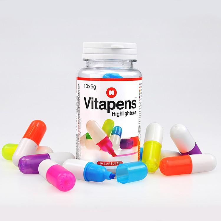 Marcadores con forma de p ldoras vitapens for Regalos amigo invisible 10 euros
