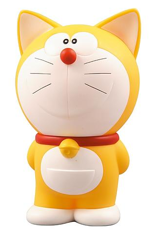 This is how Doraemon used to look: he was yellow and had ears