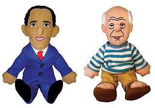 Obama and Picasso, two very popular stuffed dolls
