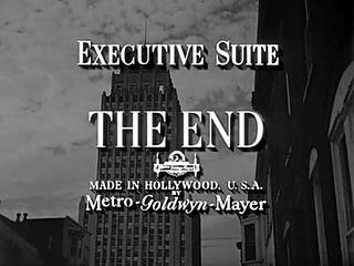 """""""Executive Suite"""", a film by Robert Wise"""