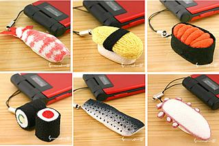 Sushi for your cell phone made from kimono fabric