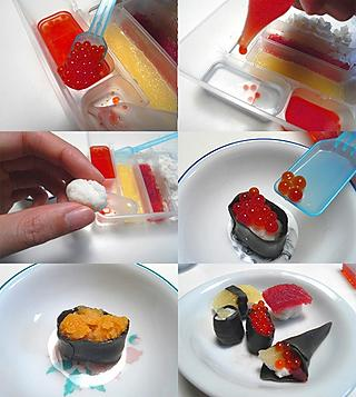 Así se hacen las piezas de sushi de la serie Popin'Cookin'