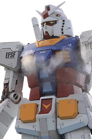 Impressive replica of a Gundam robot