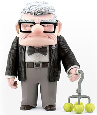 Action figure based on Carl, the grandpa from UP!