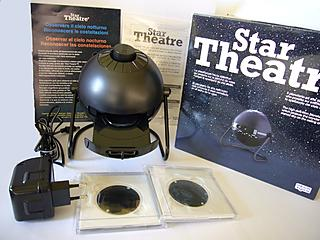Everything that's included in the Sega Toys' Star Theater Star Projector package