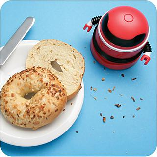 Robot Vacum loves having breakfast with you