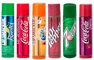The line of soft-drink flavored lip gloss: Sprite, Coca-Cola, Fanta, Dr. Pepper and 7Up