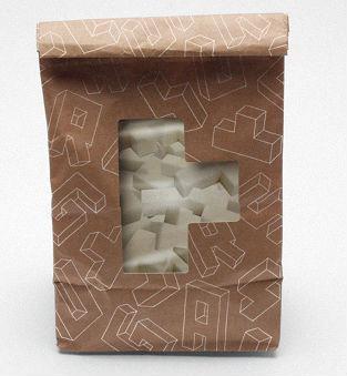 This little bag contains Tetris sugar cubes