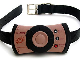 Pet collar with built-in GPS and phone