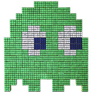 A pixelated martian