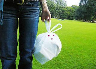 Rabbit-kun, an adorable trash bag
