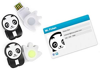 With your Poken Panda no need for visiting/business cards anymore