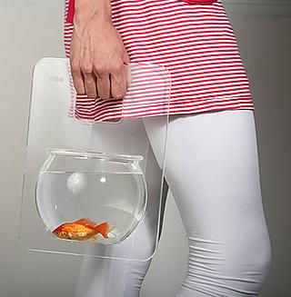 Take your goldfish for a walk. He would do the same for you