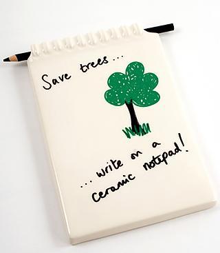 Escribe y borra sobre la cerámica