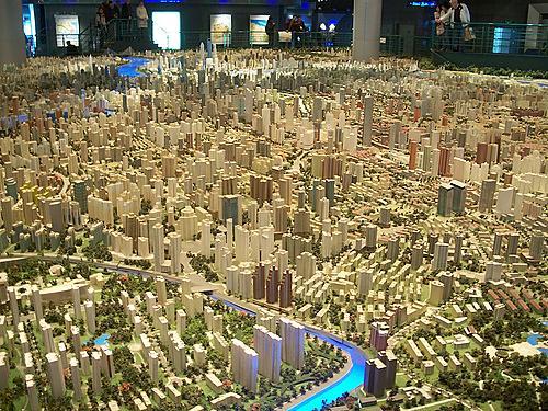 Największa makieta 3D na świecie - Szanghaj